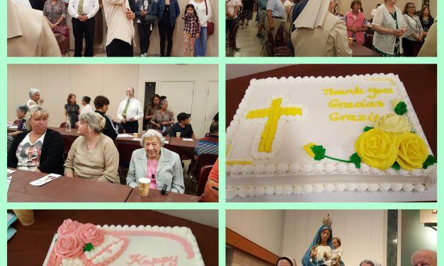 Celebración de la fiesta de Nuestra Señora del Carmen y treinta años de aniversario de las hermanas CMT en Vancouver
