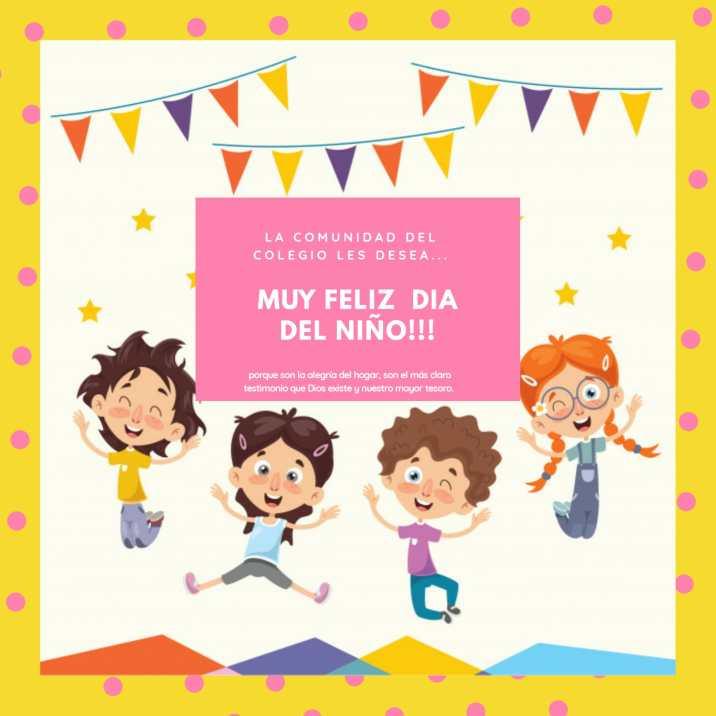afiche dia del niño