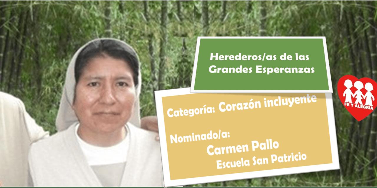 """""""CORAZÓN INCLUYENTE"""": HNA. CARMITA PALLO, CMT"""