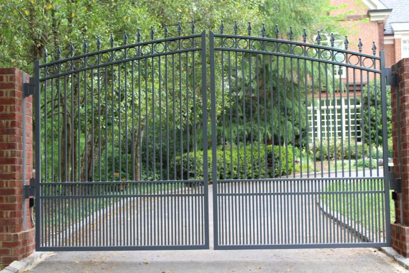 Metal Ornamental Driveway Gate   America Fence