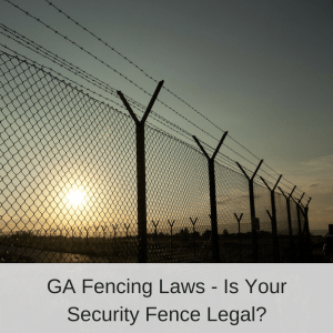 Electric Security Fence at Sunset | America Fence
