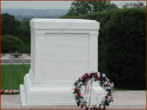 Tomb of the Unknowns — public domain photo courtesy of Arlington NationalCemetery