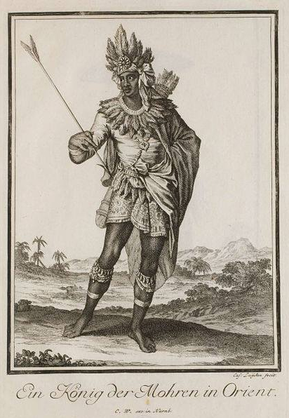 Old world painting of the Moor King of the Orient