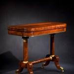 Brass and Ebony Inlaid Mahogany Card Table by Duncan Phyfe
