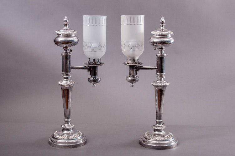 Sheffield Silver Argand Lamps by Matthew Boulton