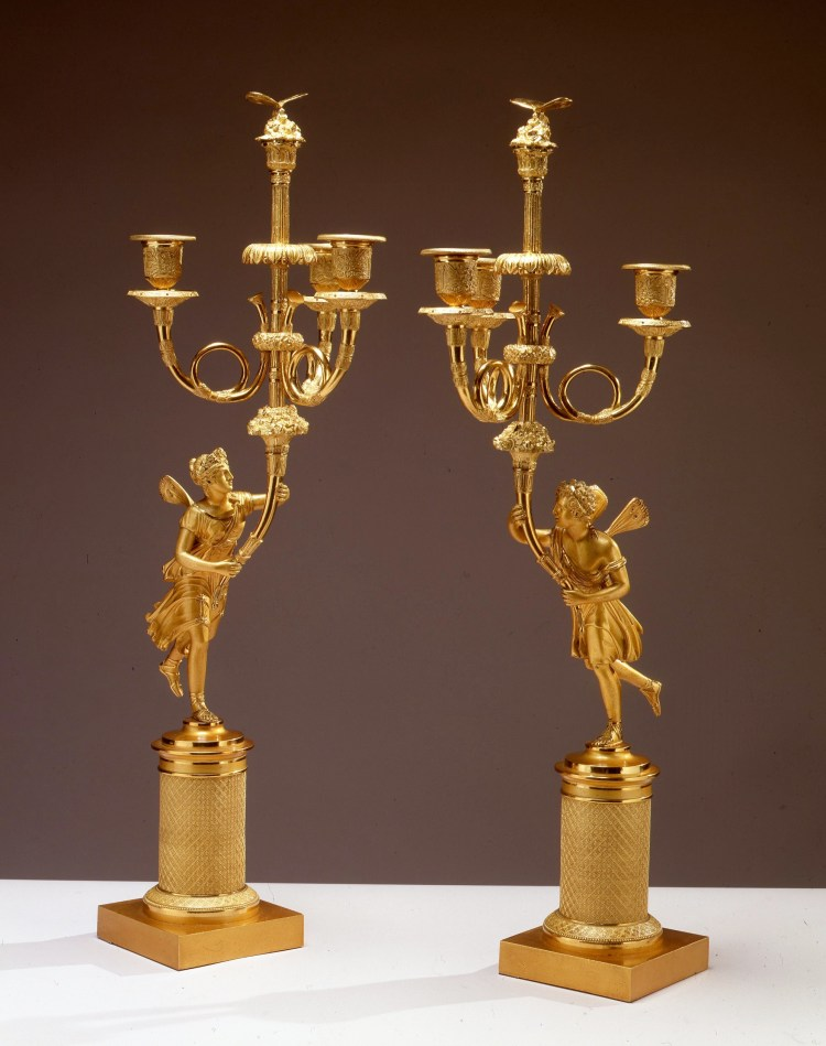 Lacquered Brass Candelabra by Wright & Salt