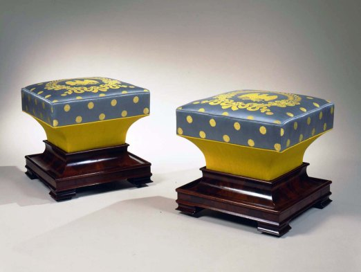 S-F-981291 pair of Restauration ottomans