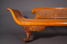 Tiger Maple Grecian Couch