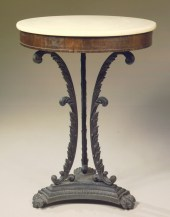 Cast Iron and Rosewood Gueridon by Phyfe & Sons