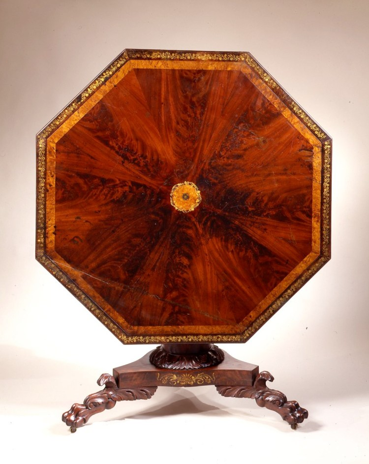 Octagonal Center Table by Charles Koones