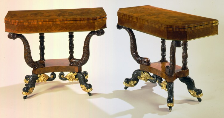 Pair of Games Tables by Deming & Bulkley