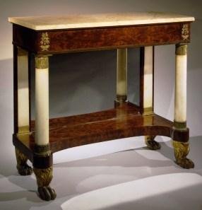 Bronze-Mounted Parcel-Gilt Mahogany Pier Table
