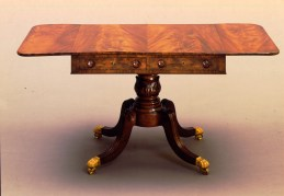 Carved Mahogany Sofa Table by Emmons and Archibald