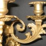 Pair of Gilt-Bronze 5-Light Sconces