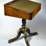 Rosewood and Faux-Rosewood, Parcel-Gilt Pedestal Desk