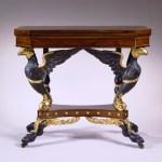 Eagle-Carved Parcel-Gilt Card Table