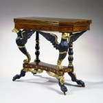 Eagle-Carved Parcel-Gilt Card Table