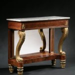 Bronze-Mounted Parcel-Gilt Pier Table