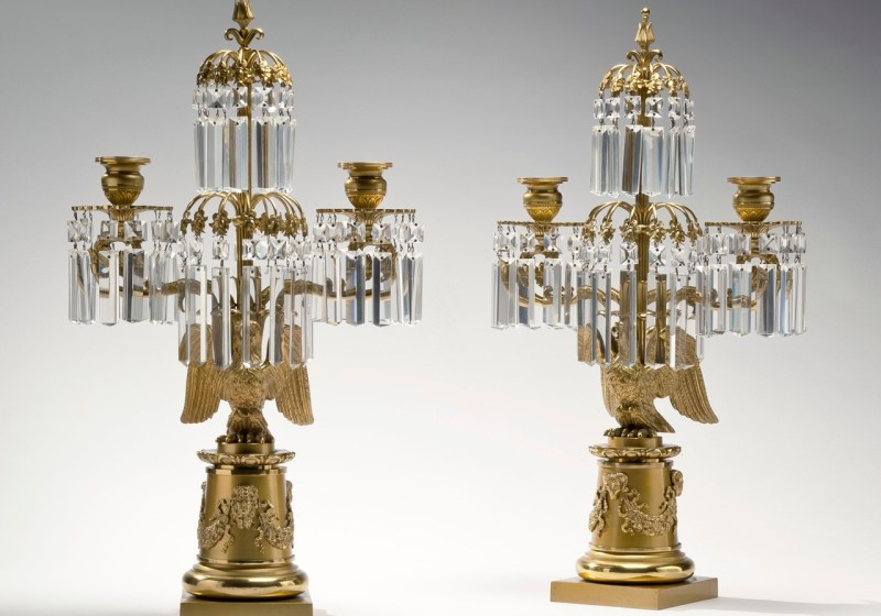 Pair of Brass Candelabra by Messenger & Phipson
