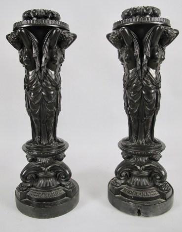 Plaster Figural Pedestals by Humphrey Hopper