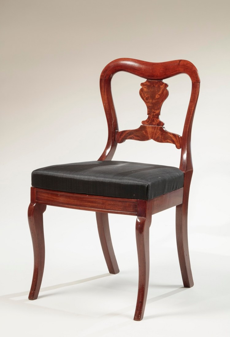 Restauration Dining Chairs by Duncan Phyfe, one of a set of four.