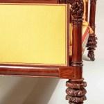 Carved Mahogany Box Sofa