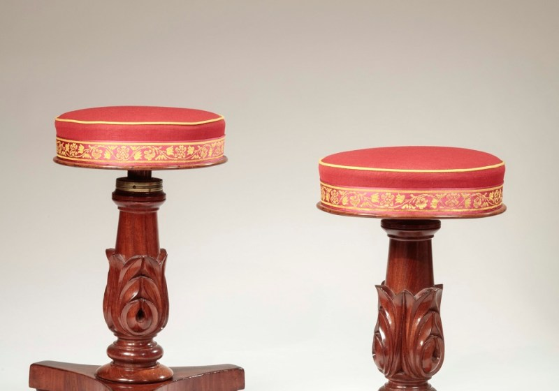 Pair of Regency Piano Stools