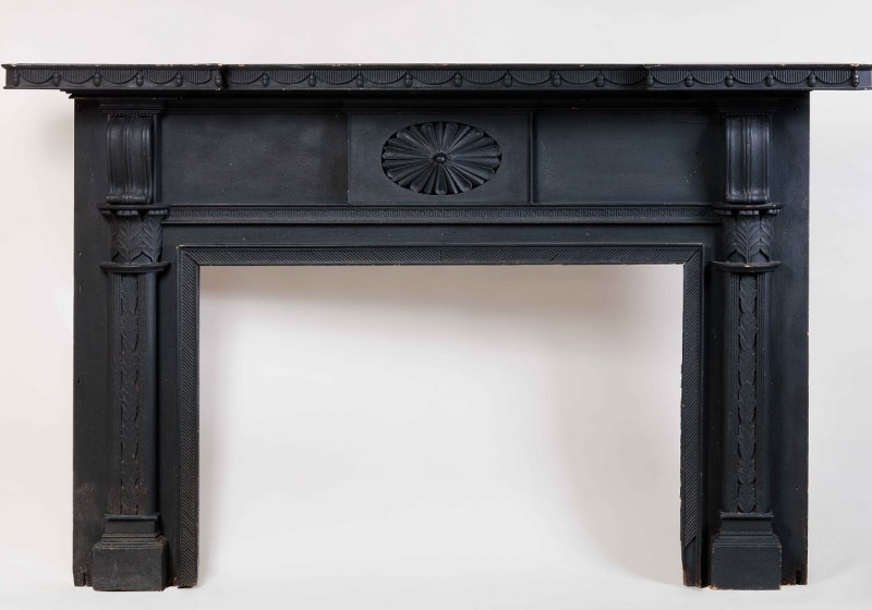 Federal Carved and Painted Mantelpiece