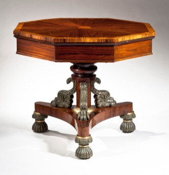 Octagonal Rosewood Drum Table by Cook & Parkin