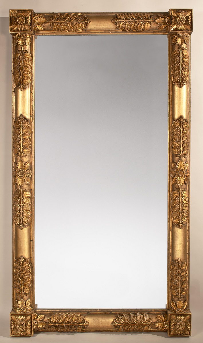 Monumental Carved Gilt-wood Pier Mirror, Attributed to John Doggett