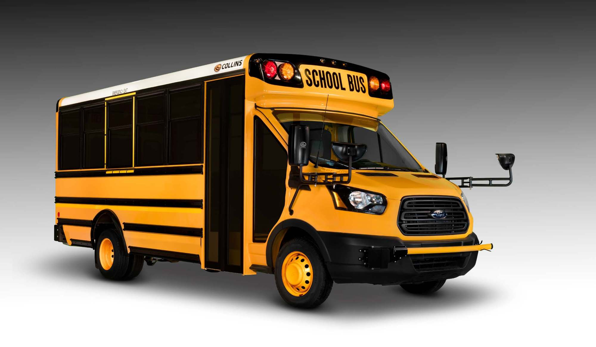 hight resolution of collins ford transit type a school bus