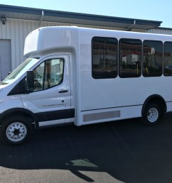 new 2018 world trans ford transit 14 passenger shuttle bus for sale [ 1266 x 950 Pixel ]