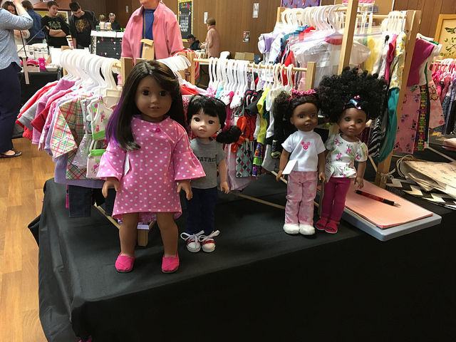Some of my dolls showing off at a local craft show