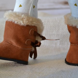 Furry Top Brown Boots