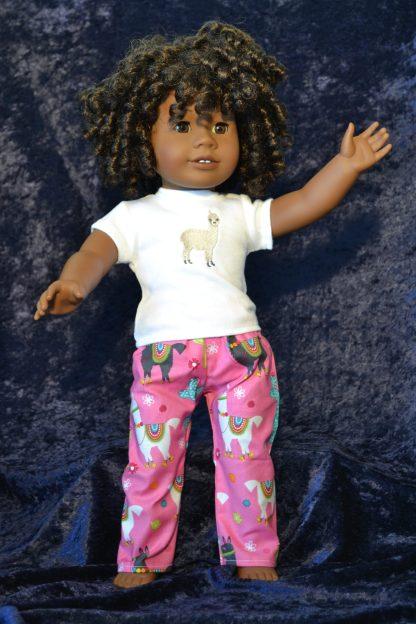 Llama Print PJs fit American Girl