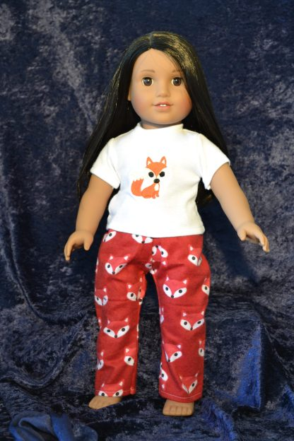 Fox Print Pajamas for 18 Inch Doll