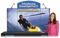 tabletop trade show displays - showstyle briefcase display boards