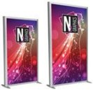 AURA Backlit Double-Sided Banner Stands