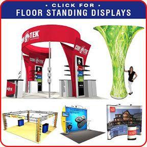 FLoor Standing Portable Trade Show Displays