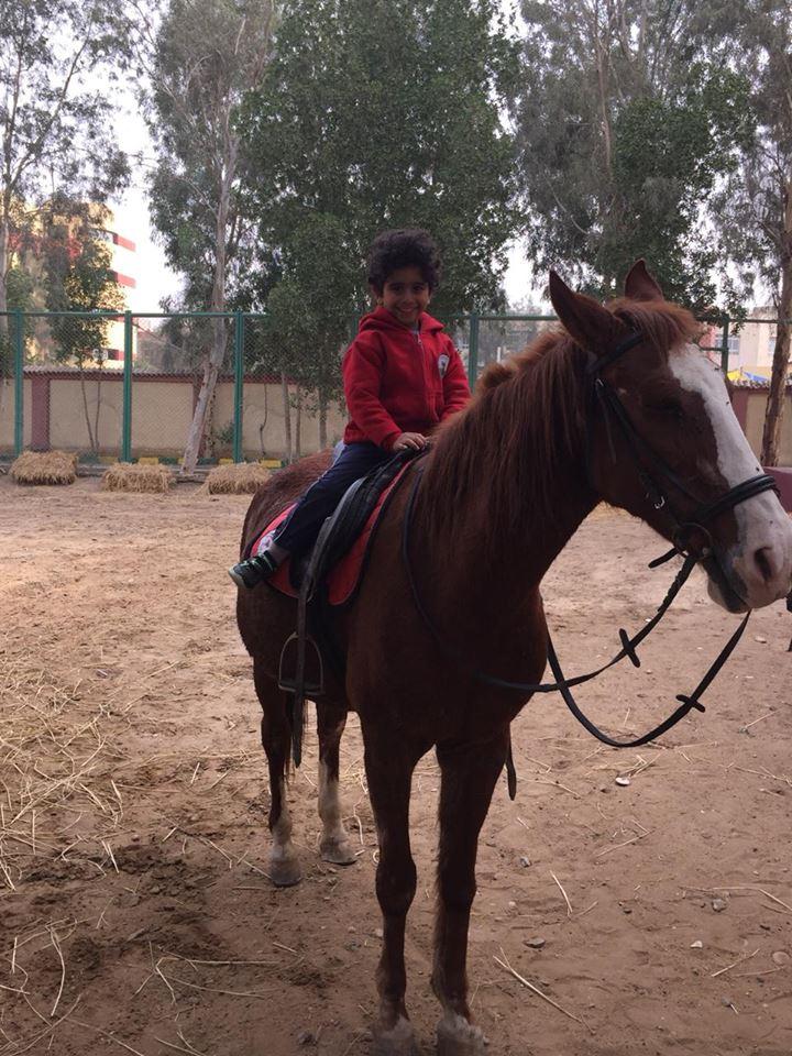 Pre KG horse riding
