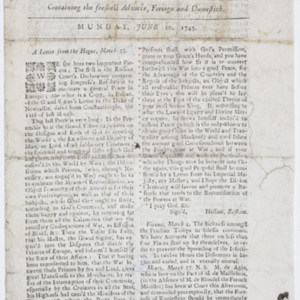Colonial Print Culture · News in Colonial America · The