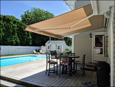 retractable awnings with new canvas