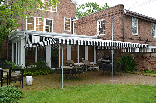 New Awning Transforms Shaker Residence