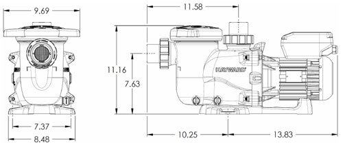 Hayward MaxFlo XL SP2302VSP 1.5HP 230V Variable Spe