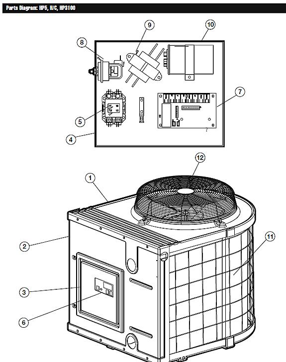Hayward Hp11002 Wiring Harness Hayward Heat Pump Manual