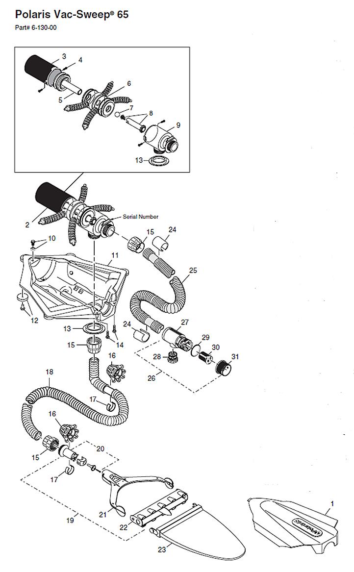 Polaris Vac-Sweep 65 Parts