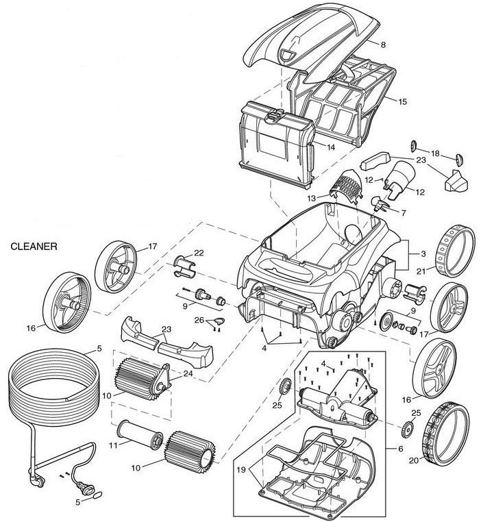 Polaris 9300xi Sport Robotic Parts