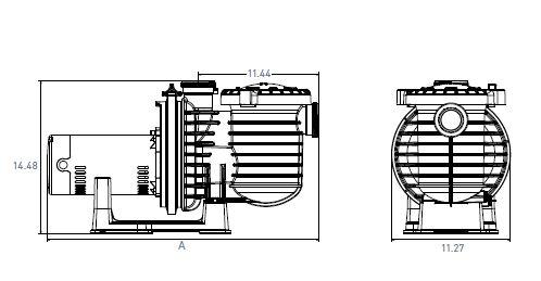 PMP MAX-E-PRO POOL.75HP 115/230V 50