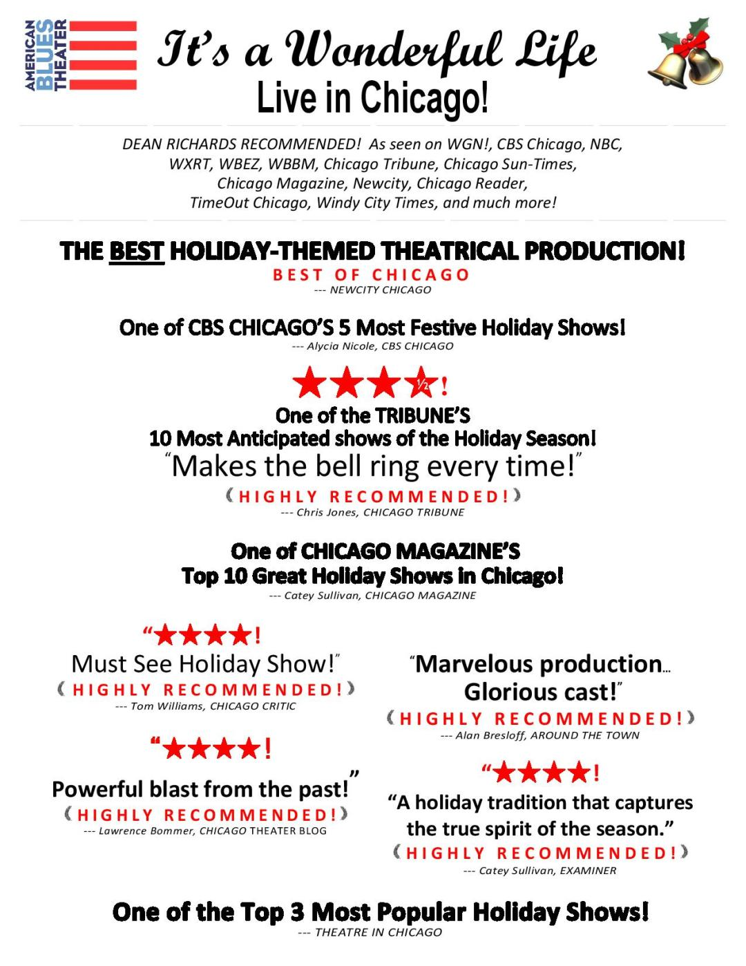 Its a Wonderful Life Performance Chicago Reviews