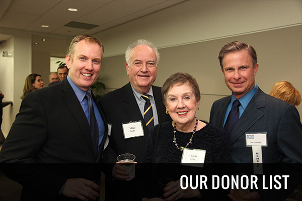 Our Donor List